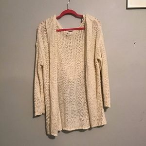 Lou and Grey Cream Open Cardigan